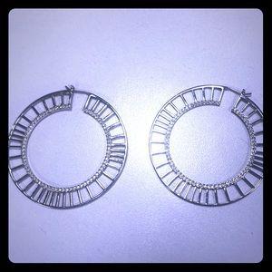 Swarovski Hoop Earrings Rhodium Plating